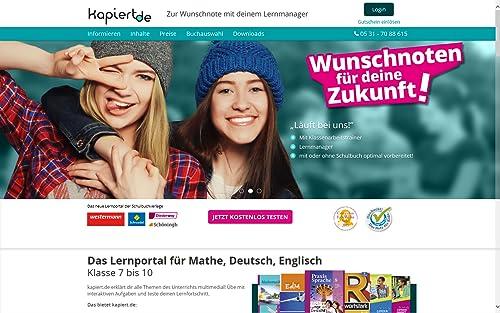 Kapiert.de – Online Lernportal Online Code für Mathematik 7. - 10. Klasse (1 Monat) [Online Code]