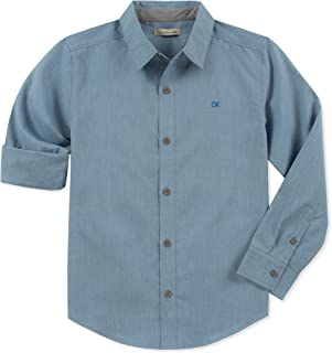 Calvin Klein Boys Slub End On End Long Sleeve Shirt