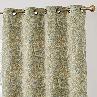 HLC.ME Paris Paisley Decorative Print Damask Pattern Thermal Insulated Blackout Energy..