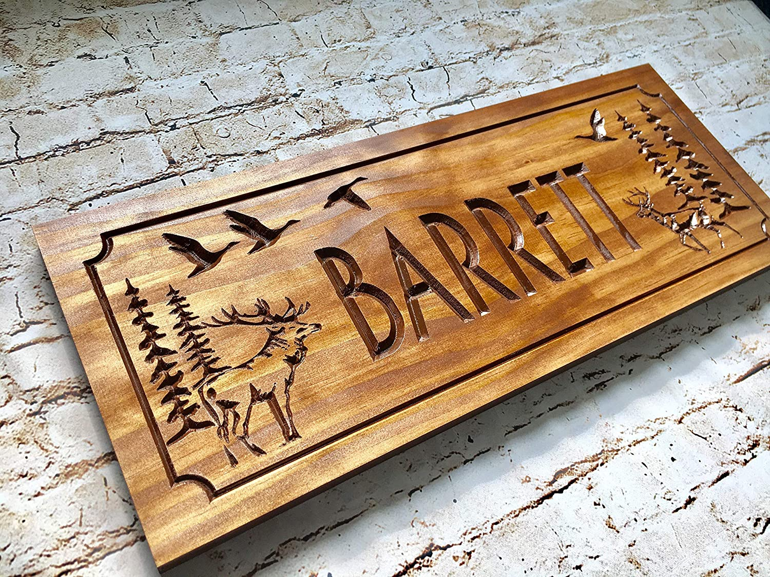 Personalized Cabin Cheap mail order shopping shipfree Sign Custom Family Wooden Name