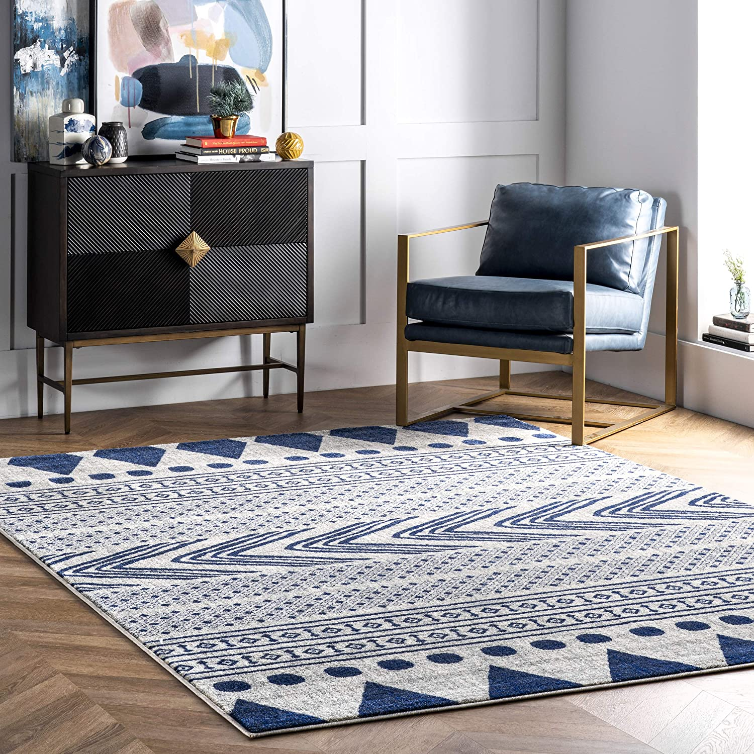 nuLOOM Shaina Tribal Area Rug x 10' Blue Don't miss the campaign service 14'