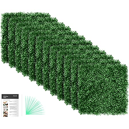Ogrmar 12pcs 20 X20 Artificial Boxwood Panels Topiary Hedge Plant Privacy Hedge Screen Uv Protected Suitable For Outdoor Indoor Garden Fence Backyard And Décor Boxwood 12pcs Garden Outdoor