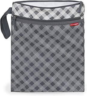 Skip Hop Waterproof Wet Dry Bag, Grey Gingham