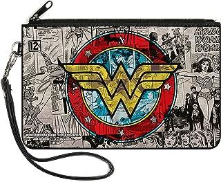 "Buckle-Down Buckle-Down Zip Wallet Wonder Woman Large Accessory, Wonder Woman, 8"" x 5"""
