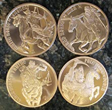 Four Horsemen of the Apocalypse 1 oz Copper COMPLETE SET: White, Red, Black, and Pale Horse