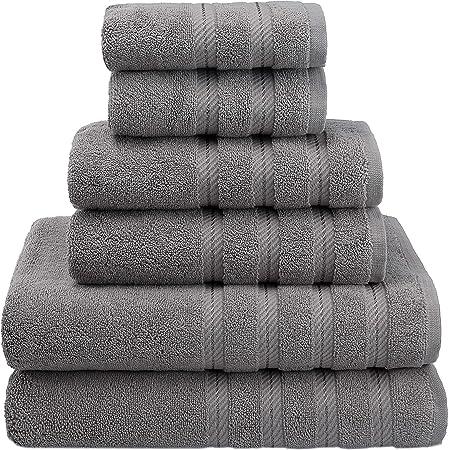 6pc Luxurious Bamboo /& Cotton Blend Towel Set 2 Bath-2 Hand-2 Face Towels