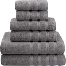 American Soft Linen 6-Piece 100% Turkish Genuine Cotton Premium & Luxury Towel Set for Bathroom & Kitchen, 2 Bath Towels, ...