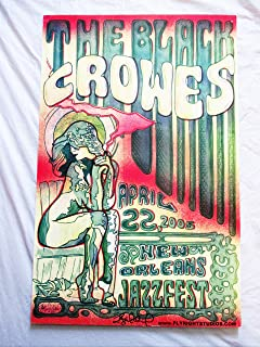 2005 The Black Crowes New Orleans Concert Poster Autographed by Artist
