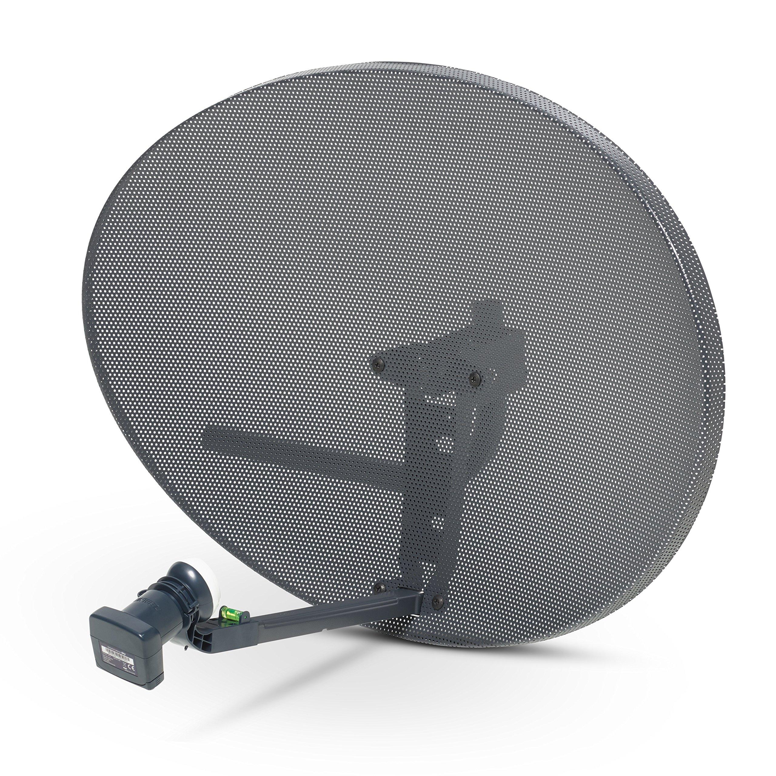 SSL Satellites Zone 2 Satellite Dish & Quad Lnb for Sky / FreeSat / Hotbird / Astra/ Polesat