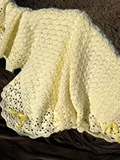 Pale Yellow Baby Afghan