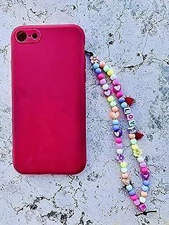 Phone strap perline charm Love, personalizzato con lettere e nome. Porta cellulare da polso e gioiello per il tuo telefon...