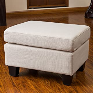 Christopher Knight Home Christabel Beige Fabric Ottoman Footstool
