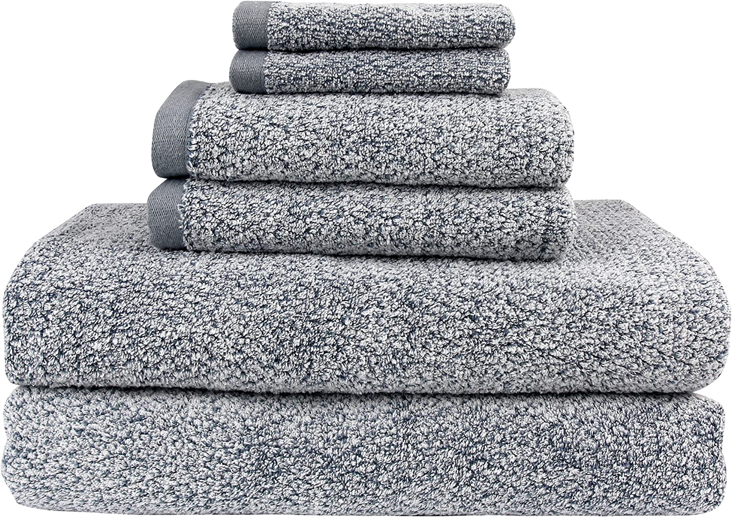 Everplush Diamond Jacquard Bath Sheet 6 Piece Value Pack in Dusk
