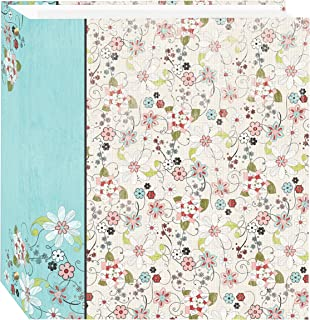Pioneer Photo Albums TR-100D Explosion Magnetic 3-Ring Photo Album 100 Page, Bold Flower