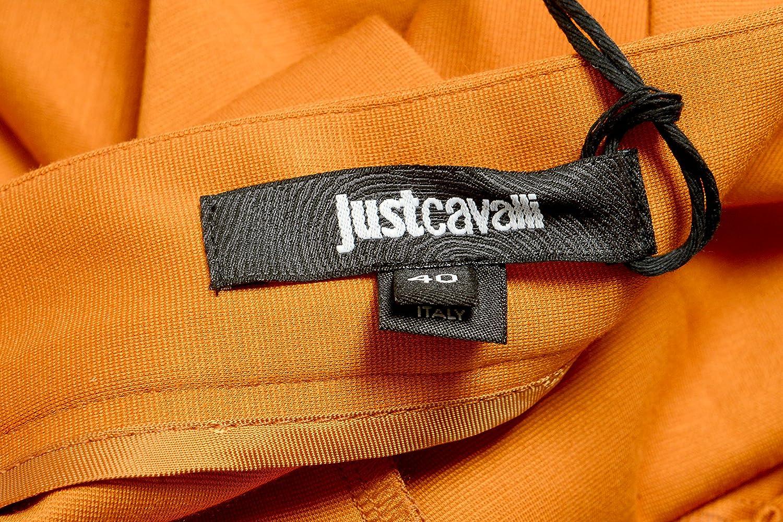 Just Cavalli Women's Orange Stretch Casual Pants US 4 IT 40