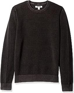 Men's Soft Cotton Thermal Stitch Crewneck Sweater
