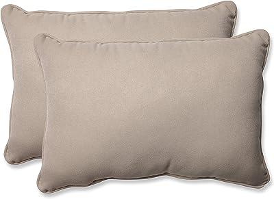 Amazon Com Pillow Perfect Outdoor Indoor Canvas Buttercup Lumbar Pillows 11 5 X 18 5 Yellow 2 Pack Home Kitchen