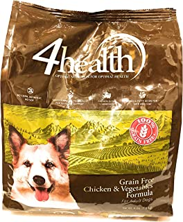 4health Tractor Supply Company Grain Free Adult Dog Food, Chicken & Vegetables Formula, 4 lb Bag