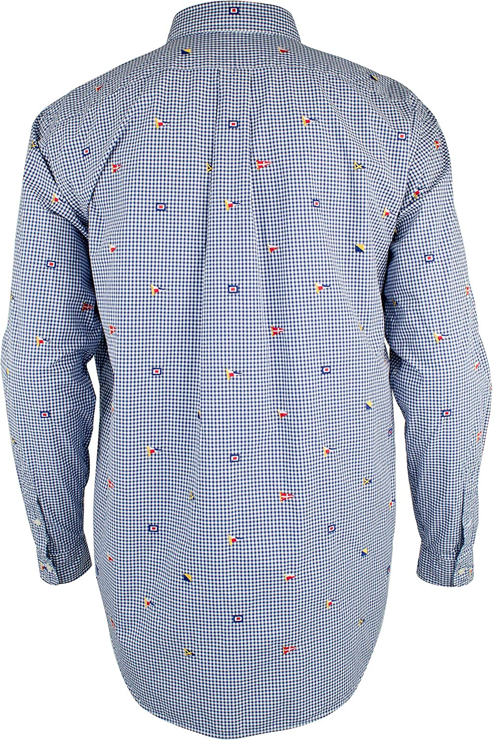 Men's M Fourth of July Plaid Flags Long Sleeve Shirt