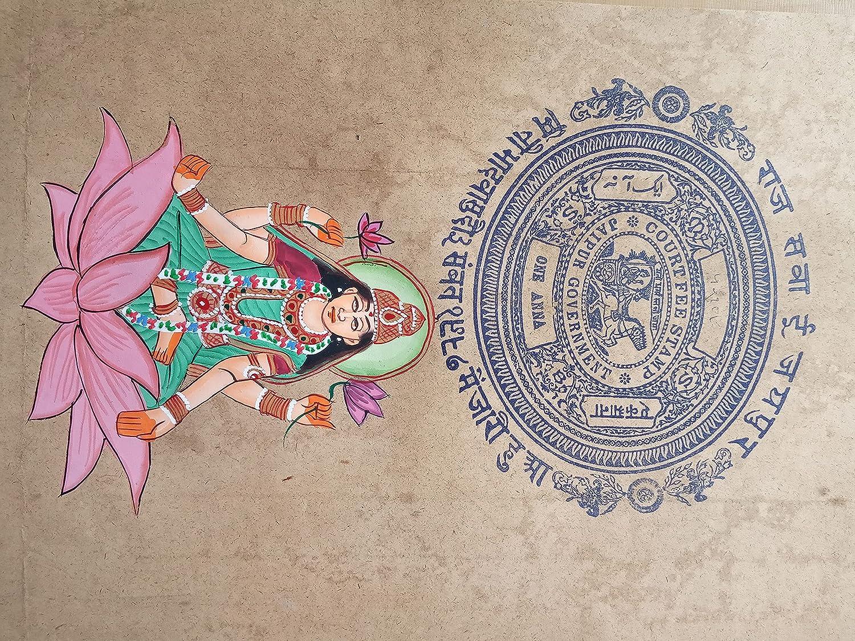 Sarswati Maa Hindu Limited time cheap sale Goddess Painting Art Limited time trial price St Handmade on Spiritual