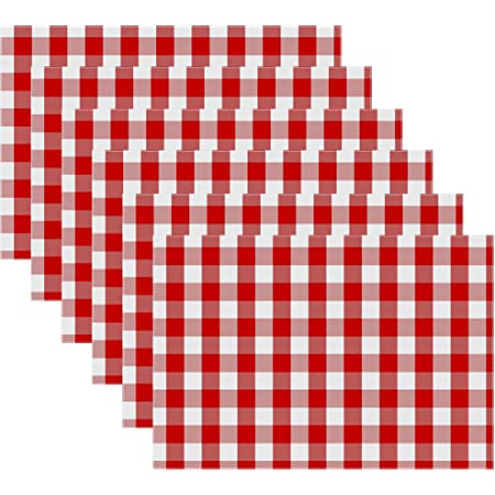 Amazon Com C F Home Franklin 13 X 19 Buffalo Check Gingham Plaid 4th Of July Memorial Day Labor Day Americana Liberty Red Cotton Placemat Set Of 4 Rectangular Placemat Red White Home