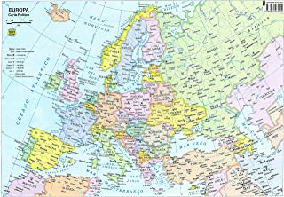 Cartina Muta Europa Centrale.Amazon It Carta Geografica Europa Cartina Europa Cartine Geografiche