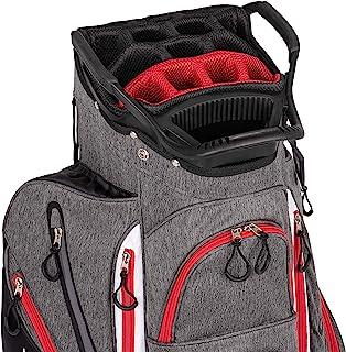 کیف موسسین کلوپ Franklin Golf Push Cart-کیف کیسه ای سواری-کیف کامل باران -پایگاه سبد هدیه امن-وزن سبک -مشخصه طول 15 طرفه-لوله خارجی پلاستیکی-صفحه گلدوزی