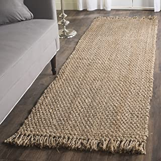 "Safavieh Natural Fiber Collection NF467A Hand-woven Jute Runner, 2' 6"" x 6'"