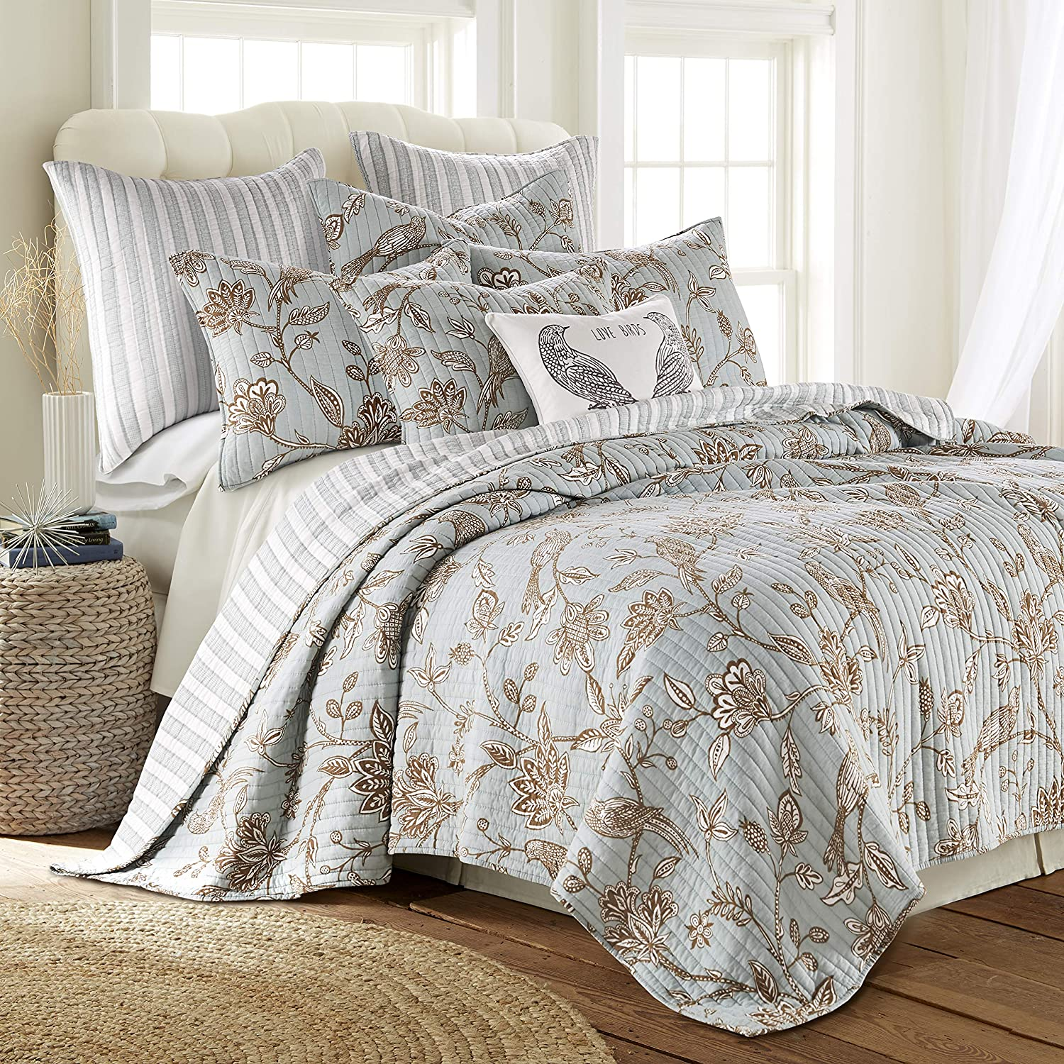 Levtex home - Max 60% OFF Tanzie Surprise price Teal Quilt King Set Pill + Two