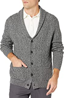 Amazon Brand - Goodthreads Men's Supersoft Long-Sleeve Shawl Collar Cable Knit Cardigan Sweater