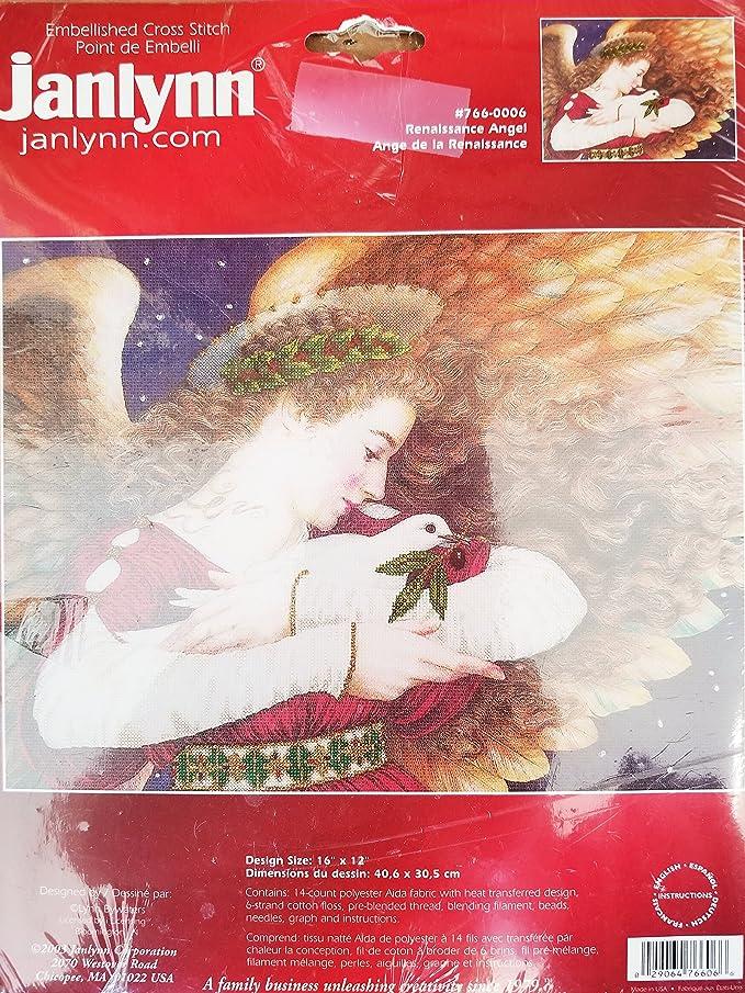 2003 Embellished cross stitch kit RENAISSANCE ANGEL