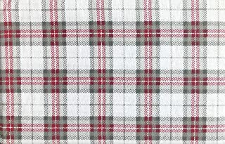 Nordic North Bedding 4 Piece Cotton Turkish Flannel King Size Bed Sheet Set Winter Plaid Stripes Tartan Stripes Pattern in Shades of Gray Red White