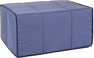 Quality Mobles Plegable, Puff Cama, Azul, 80 X 180 Cm