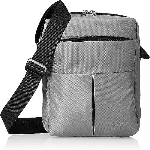 Nylon Cross Body Sling Bag for Men and Women Grey