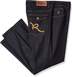Men's Big and Tall R Script Flap Jean