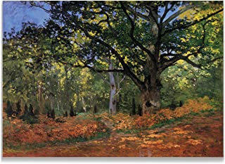 Monet Wall Art Collection The The Bodmer Oak Fontainbleau Forest Canvas Prints Wrapped Gallery Wall Art | Stretched and Framed Ready to Hang 30X40,
