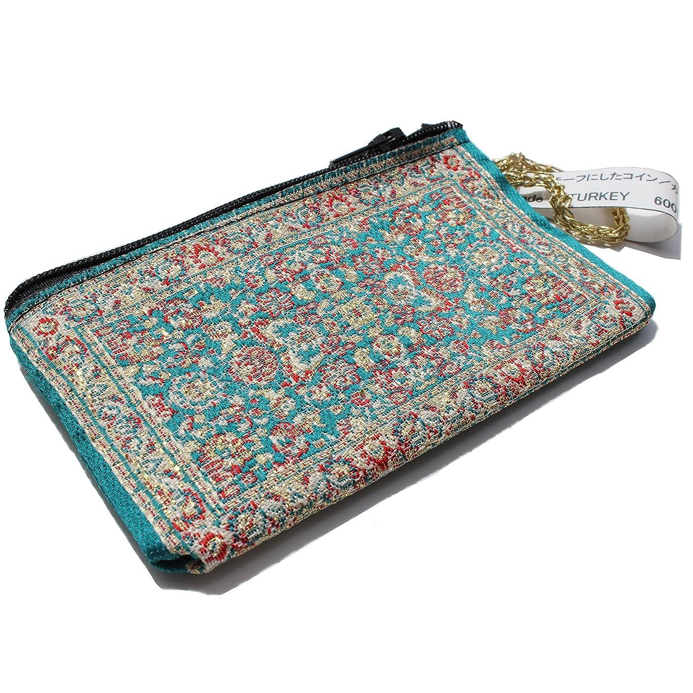 熟読する施しベルト絨毯をモチーフにしたコイン/カードケース FS04