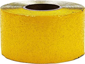 ifloortape Yellow Reflective Foil Pavement Marking Tape Conforms to Asphalt Concrete Surface 4 Inch x 108 Foot Roll