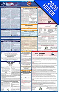 2020 Kentucky Labor Law Poster – State, Federal, OSHA Compliant – Single Laminated Poster