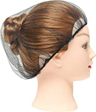 """100 Pack Black Nylon Hairnets 24"""" Size. Disposable black hairnets. Protective Hair Nets with Elastic Edge Mesh. Stretchable Hairnet Caps for Non-Medical Use. Lightweight, Breathable. Wholesale price."""