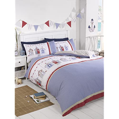 red white and blue bed in a bag