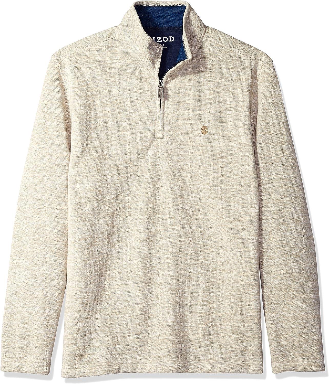 IZOD Mens Premium Essentials Spectator Quarter Zip Fleece Pullover