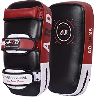 ARD Kick Boxing Strike Curved Thai Pad MMA Focus Muay Thai Punch Shield Mitt (1 Unit)