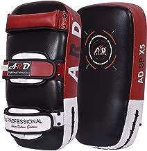 ARD Kick Boxing Strike Curved Thai Pad MMA Focus Muay Thai Punch Shield Mitt (1 Unit)