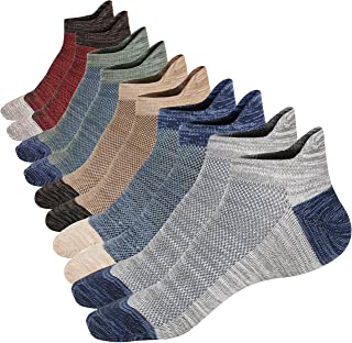 M&Z Mens Low Cut Ankle Non-slid Socks Cotton Mesh Top Fresh Ventilation Socks 5/8PACK