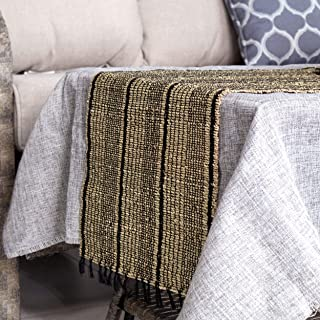 """Made Terra Rustic Table Runner with Fringe, 70.8""""X13.8"""" Rectangular Hand Woven Natural Seagrass Farmhouse Table Runner Dec..."""