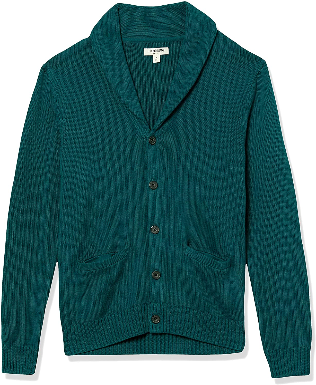 Amazon Brand - Goodthreads Men's Shawl 大規模セール Cardigan Cotton 初回限定 Soft