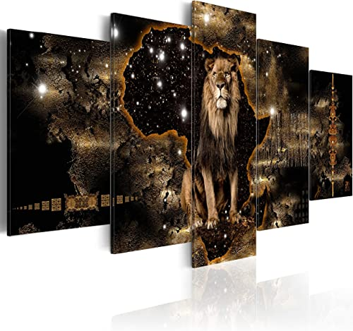 """artgeist Canvas Wall Art Print Africa 200x100 cm / 79""""x39"""" 5 pcs Home Decor Framed Stretched Picture Photo Painting A..."""