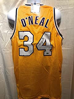 Shaquille O'Neal Los Angeles Lakers Signed Autograph Custom Jersey Schwartz Sports Certified