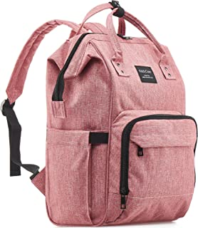 KiddyCare Diaper Bag Backpack for Girls, Multi-Function Waterproof Maternity Nappy Bags for Baby, Large Capacity, Durable and Stylish, Pink